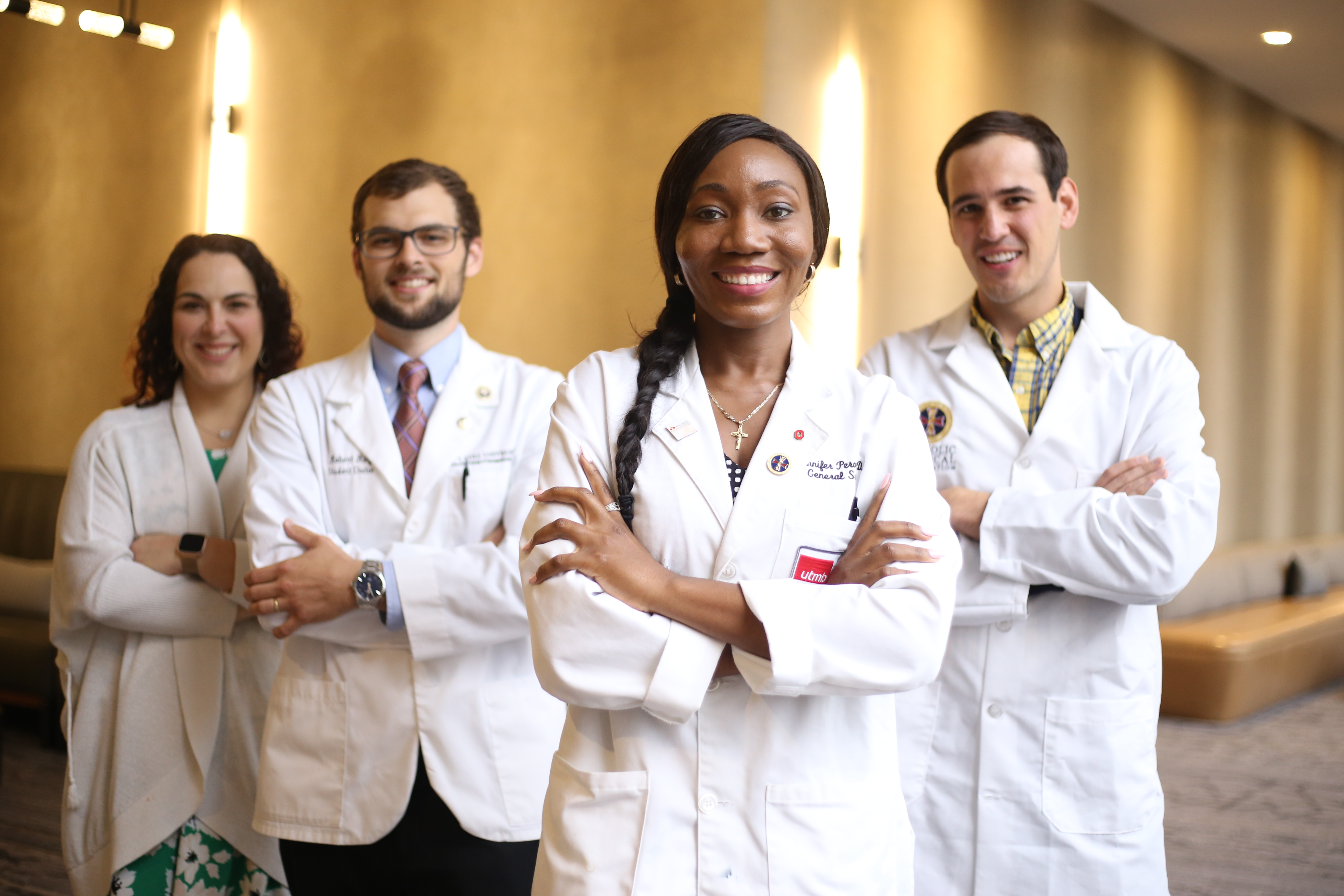 Medical residents, including Temilola Yvonne Abdul (center), pose during the 2018 Catholic Medical Association conference, held in Dallas. / Courtesy Catholic Medical Association/Catholic Sentinel